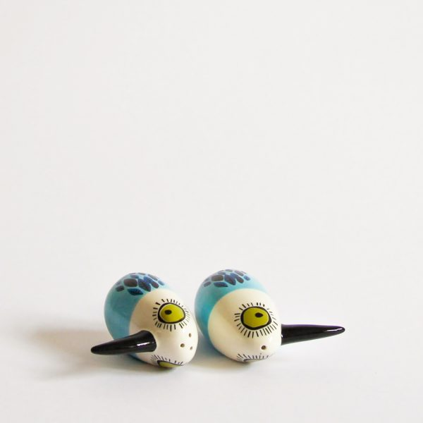 Hannah Turner Blue Bird Salt & Pepper Pair