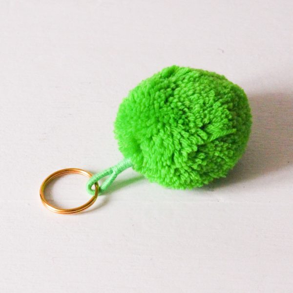 Bohemia Green Pom Pom Key Ring